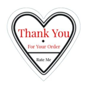 Other - Thank You Stickers 60 Heart Labels 1 1/2 Order